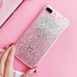 Accessories - New iPhone X/XS/7/8/Plus Shining Heart Phone case